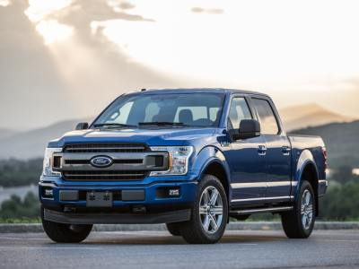 Blue Ford F-150 Pickup Truck