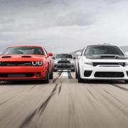 dodge sports cars on race track
