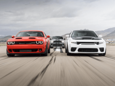 dodge sports cars on race track