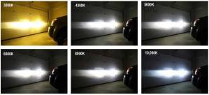 led headlights colors comparison