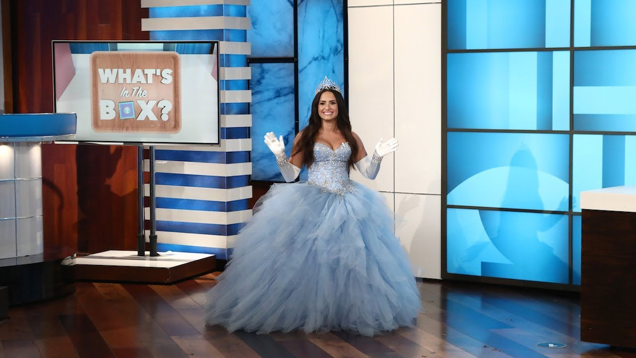 Demi Lovato Talks Tour Appears For Whats In The Box On The Ellen DeGeneres Show