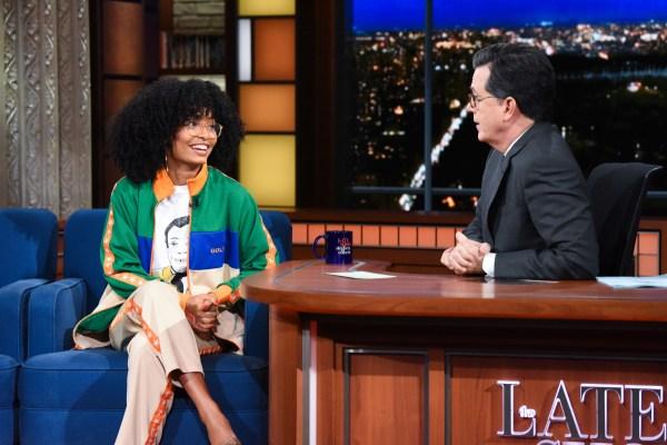"Yara Shahidi Appeared "" Late Show With Stephen"