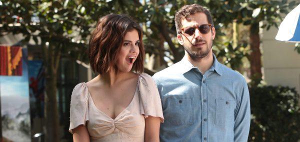"Selena Gomez Andy Samberg ""hotel Transylvania 3"" Press Day Event"
