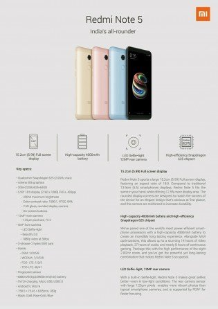 Xiaomi Redmi Note 5 Pro specs leaked