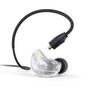 Brainwavz B400 Transparente Frosty Auriculares híbridos de 4 drivers