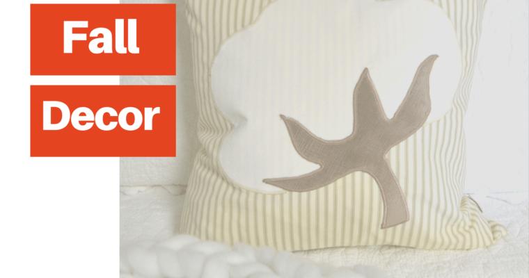 Cotton Boll Pillow