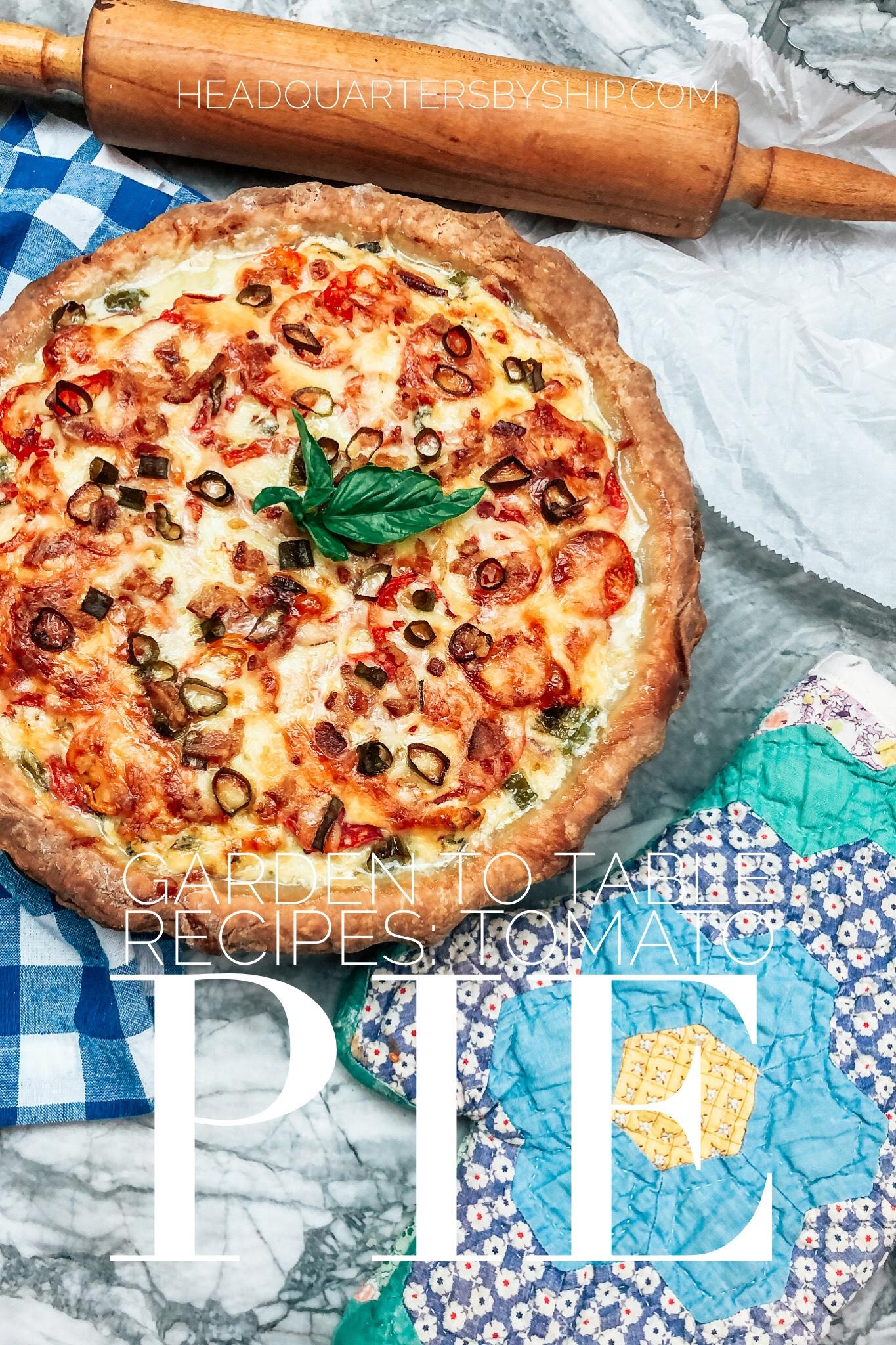 Southern Favorites   Tomato Pie