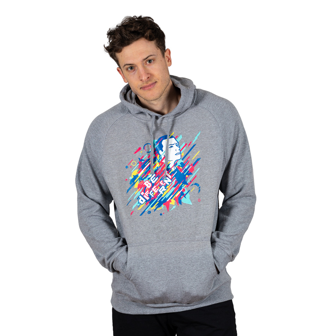 Unisex Be Different Hoodie Athletic Heather
