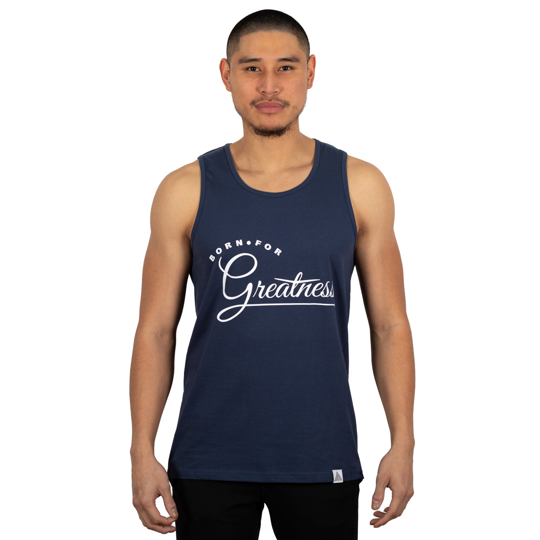 """Greatness"" Tank Harbor Blue"