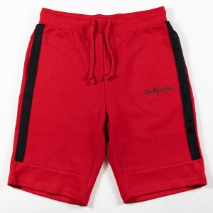 HeadQuarters Tech Fleece Sweat Shorts Red/Black