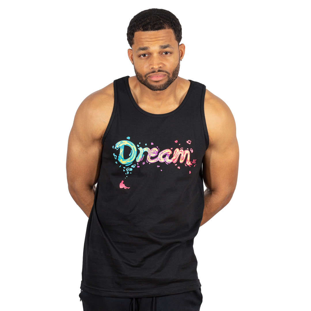 """Dream BIG"" Tank Black"