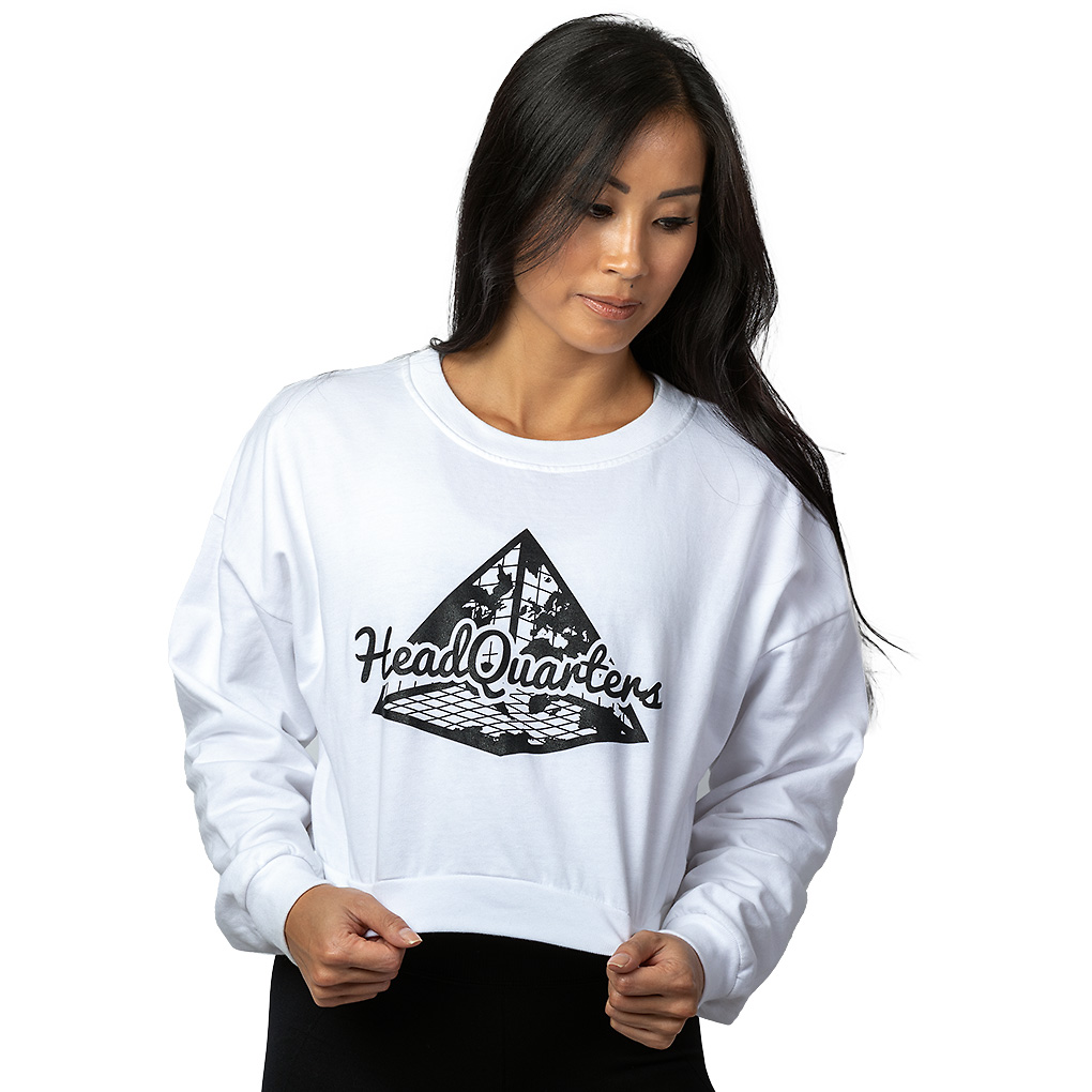 Logo Cropped Sweatshirt White
