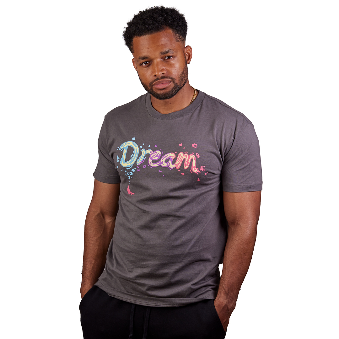 """Dream BIG"" Tee Cool Grey"