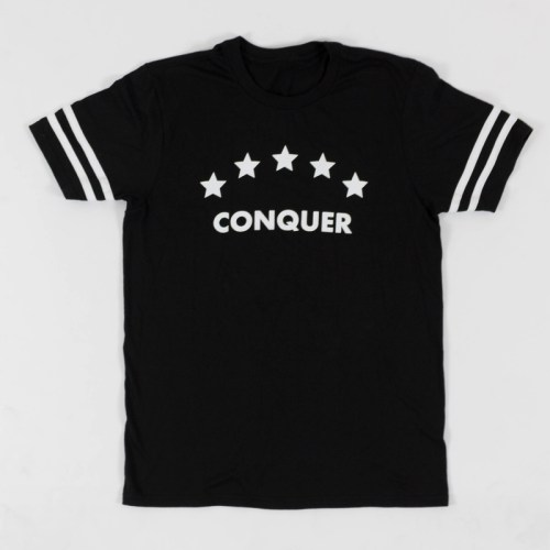 """Conquer"" Tee Black"