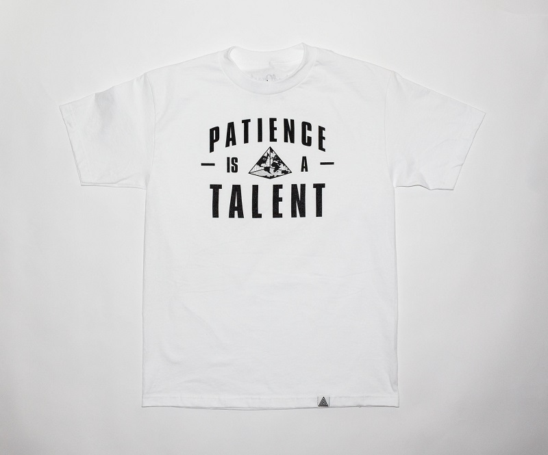 """""""Patience"""" Tee White"""
