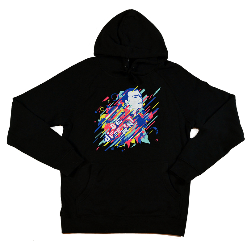 "Unisex ""Be Different"" Hoodie Black"
