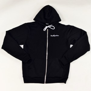 Unisex HeadQuarters Zip Up Logo Hoodie Black