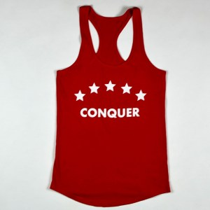 "WMNS ""Conquer"" Racerback Tank Red"