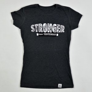 "WMNS ""Stronger Than Yesterday"" Tee Charcoal Heather"