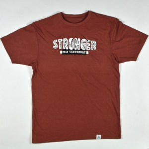 """Stronger Than Yesterday"" Tee Spice Heather"