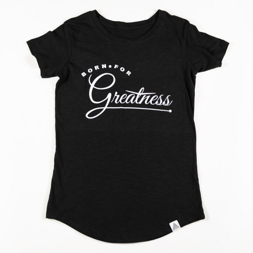 """WMNS """"Greatness"""" Scallop Tee Black"""