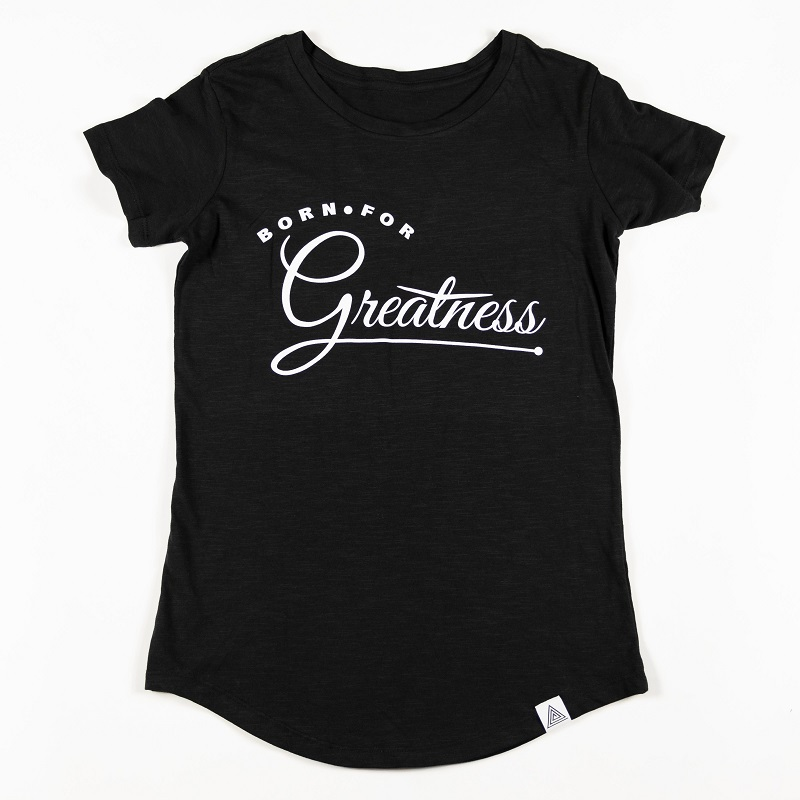 "WMNS ""Greatness"" Scallop Tee Black"
