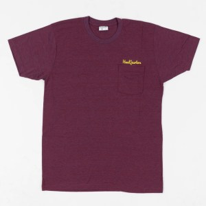 Logo Pocket Tee Tri-Cranberry Gold
