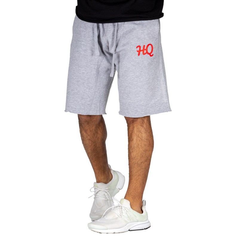 HQ Sweat Shorts Grey/Red