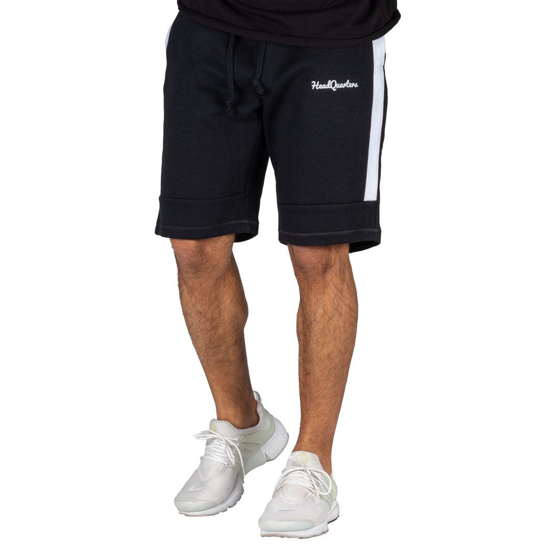HeadQuarters Tech Fleece Sweat Shorts Black/White