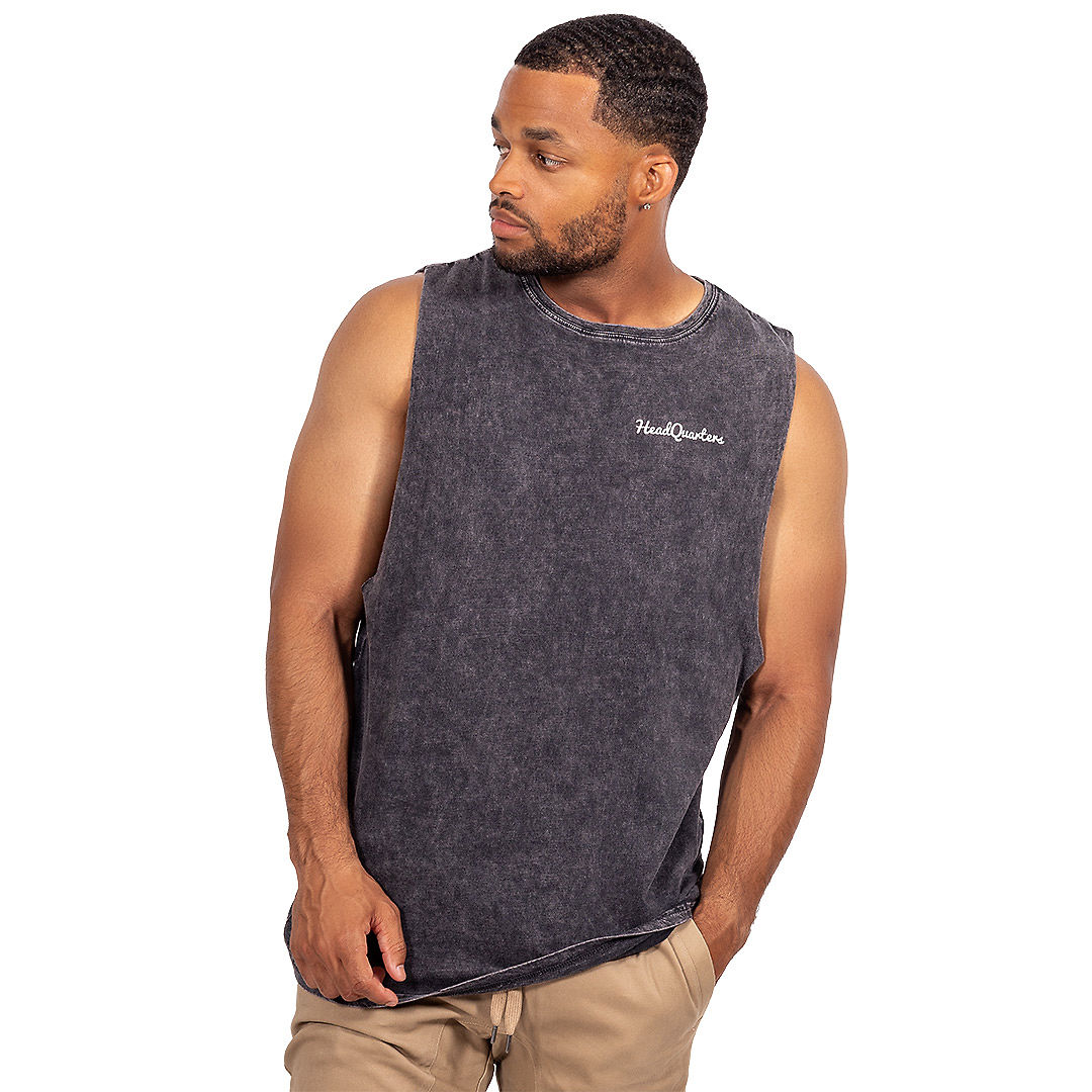 HeadQuarters Sleeveless Tee Black Stone