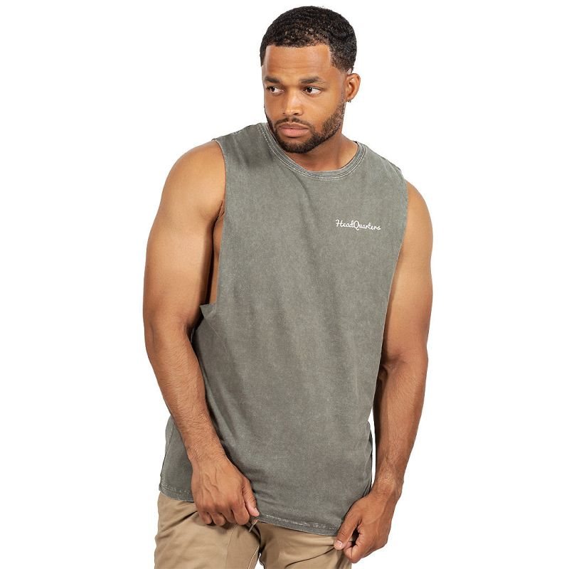 HeadQuarters Sleeveless Tee Moss