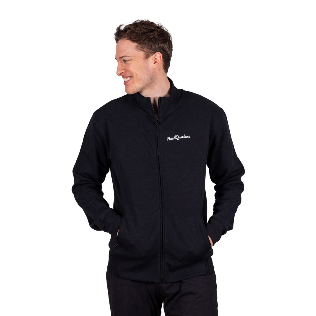 HeadQuarters Tech Fleece Track Jacket Black
