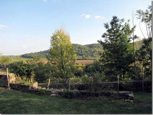 View of the garden and the valley