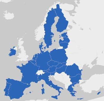 Map of the new EU
