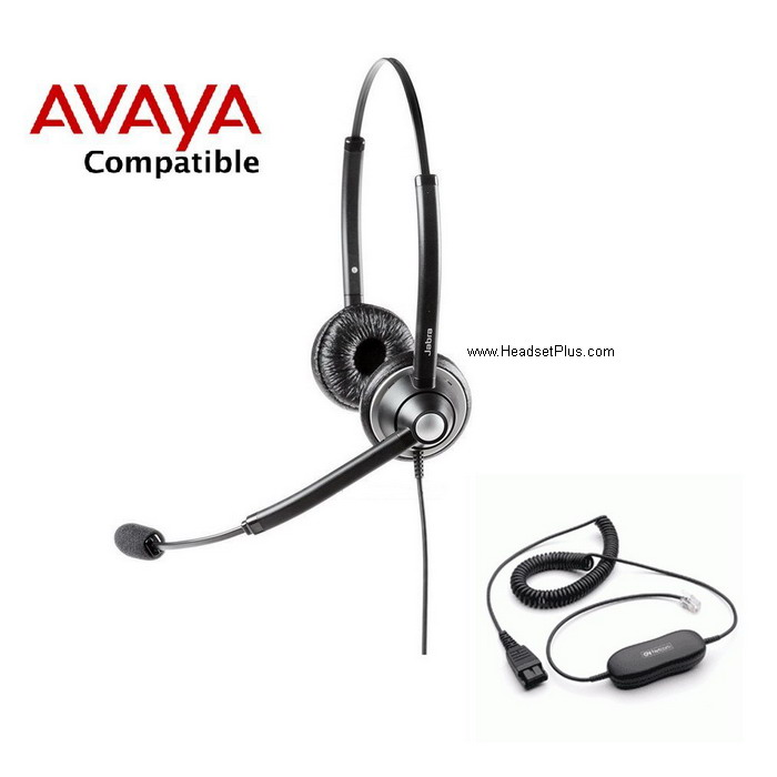Jabra Biz 1925 Duo Avaya 1600 9600 IP Phone Compatible Headset
