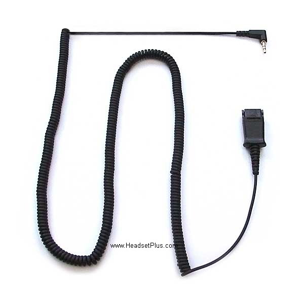 PLANTRONICS 2.5mm to 10ft Coil QD CABLE ADAPTER 70765-01