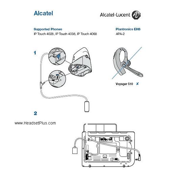 Plantronics APA-20 Electronic Hook Switch fro Alcatel