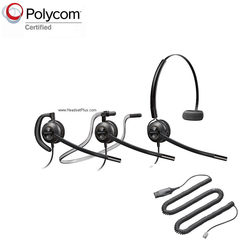 PLANTRONICS HW540-POLY Polycom Phone Compatible Headset