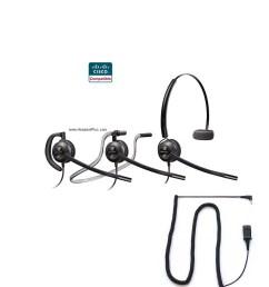 plantronics hw540 spa cisco spa 303 5xx 9xx certified headset [ 1000 x 1000 Pixel ]