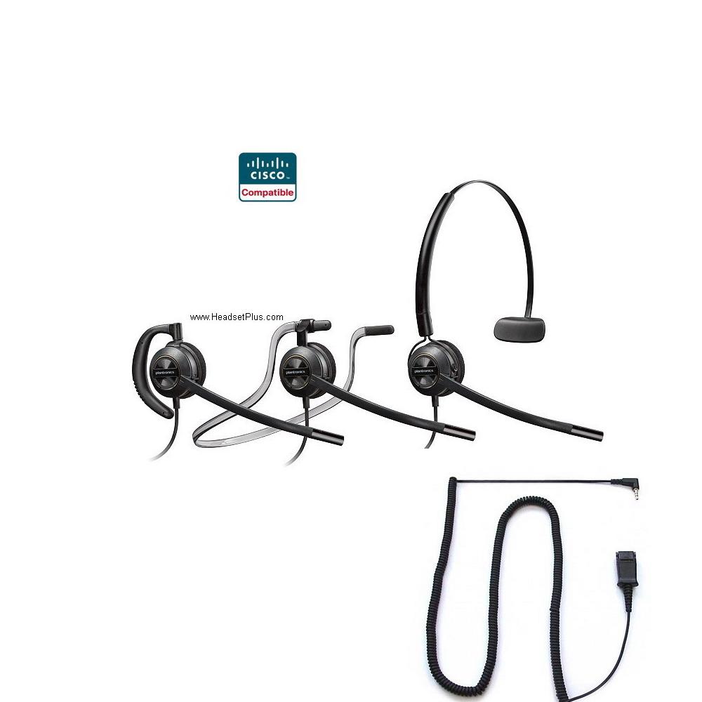 medium resolution of plantronics hw540 spa cisco spa 303 5xx 9xx certified headset