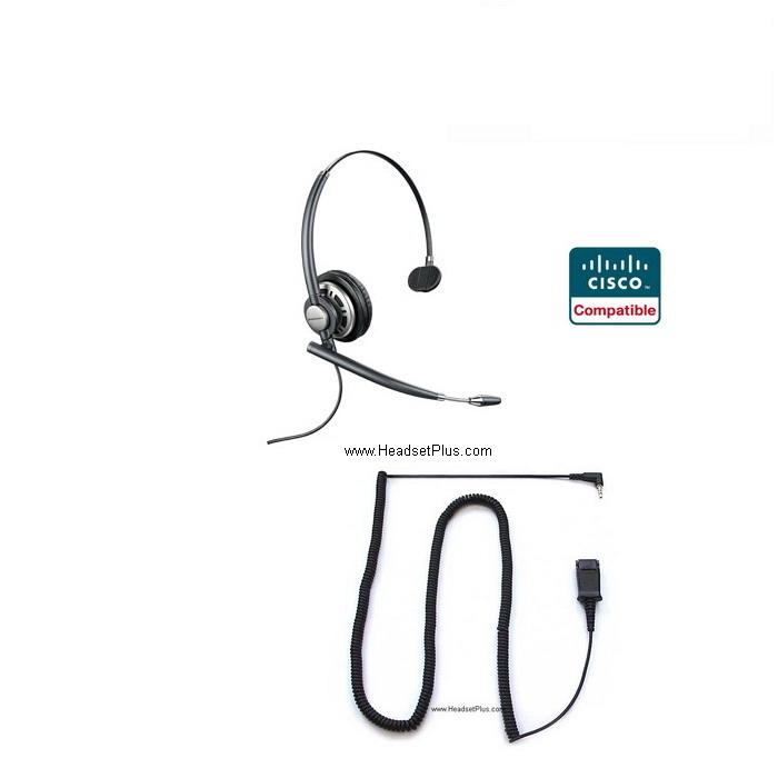 PLANTRONICS HW710-SPA Cisco SPA 303 5xx 9xx Compatible Headset