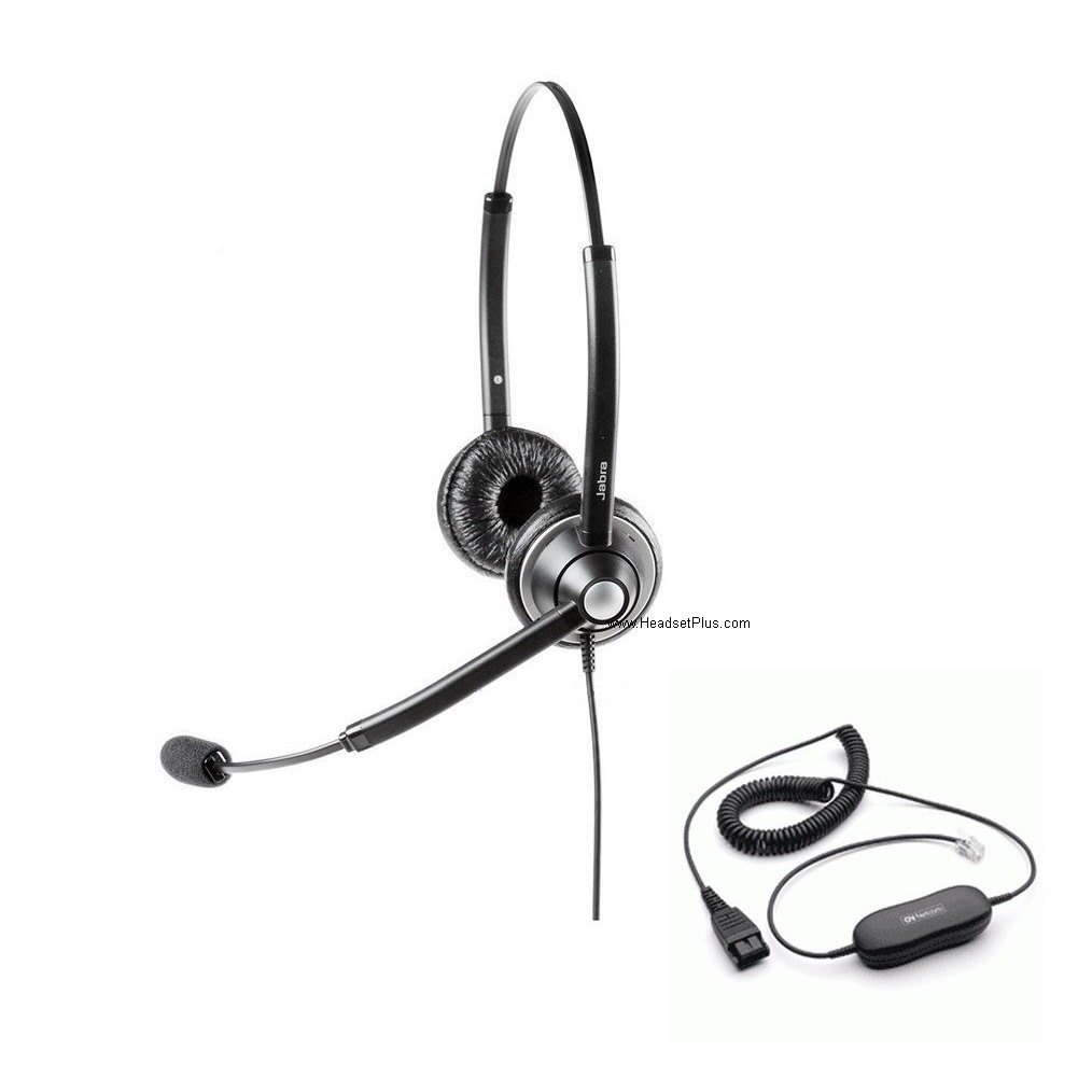 Jabra Biz 1925 Duo Direct Connect Noise Canceling Headset