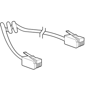 PLANTRONICS M12, M22, MX10 Pigtail MODULAR CABLE TO PHONE