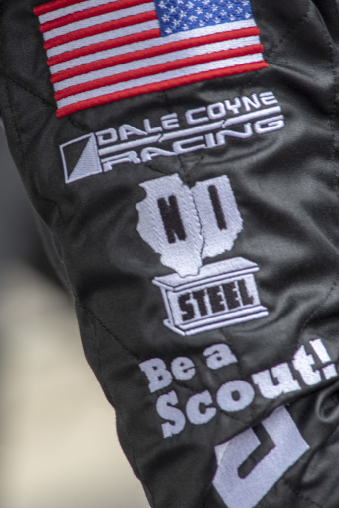 """Be a Scout!"" on Santino Ferrucci's uniform"