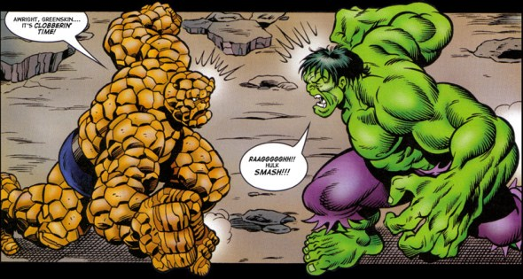 who would win in a fight the hulk or the thing heads up by boys