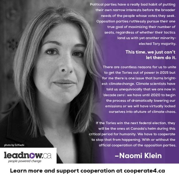 Naomi Klein on Cooperation