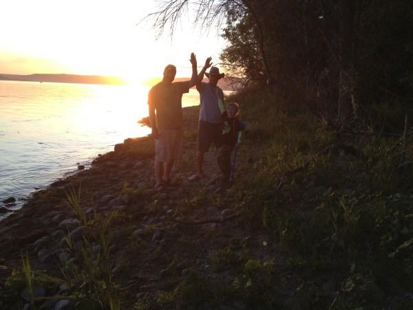 Sunset at Crooked Lake