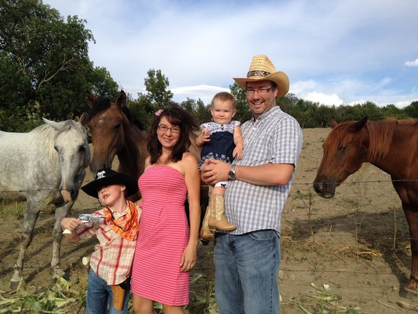 Western Wedding Family Photo