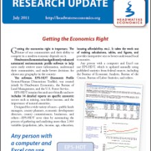 Front page image of July 2011 newsletter on EPS-HDT.