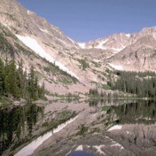 scenic view of wild basin thunder lake